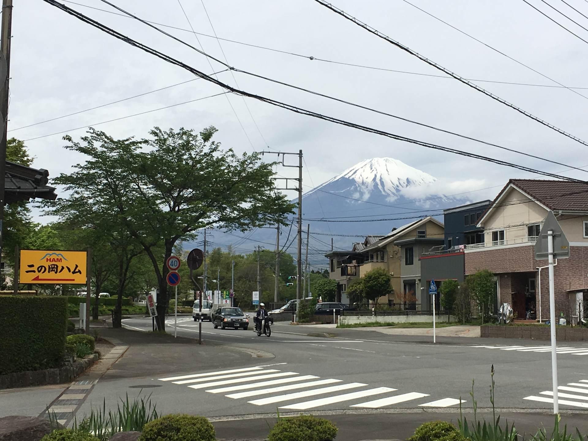 從「二岡火腿」望去的富士山