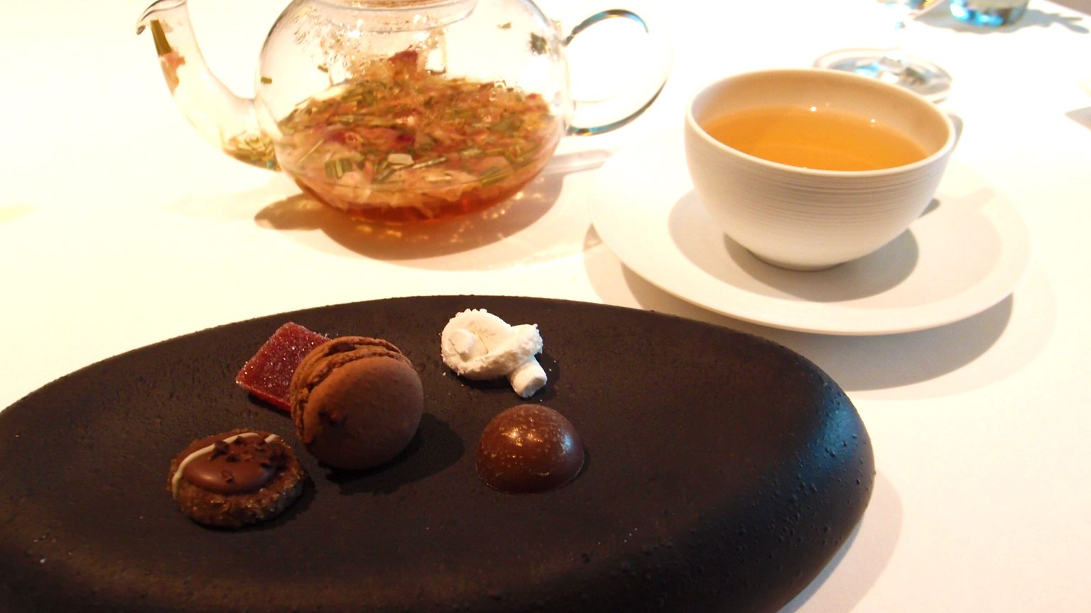 Petit Fours and Rose Tea