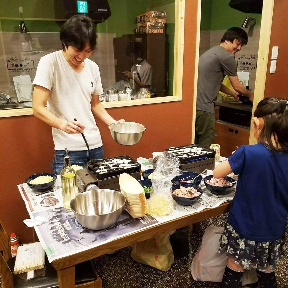 A Takoyaki (Octopus Dumpling) Party