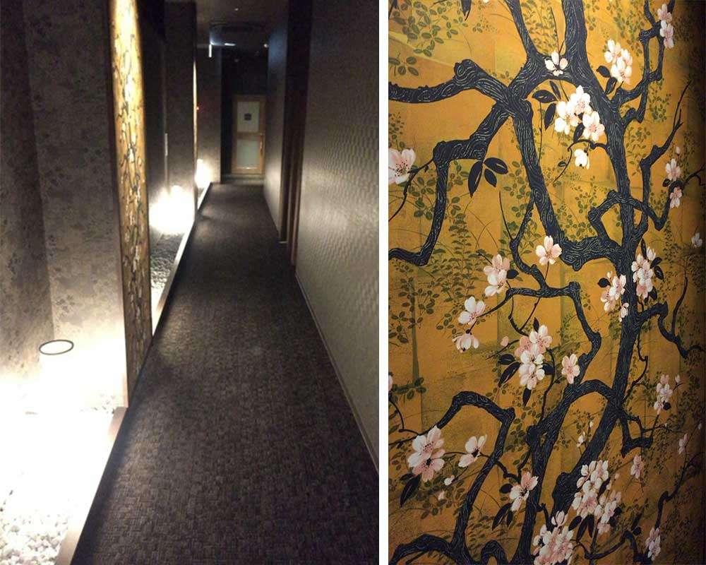 走廊與牆壁的樣子