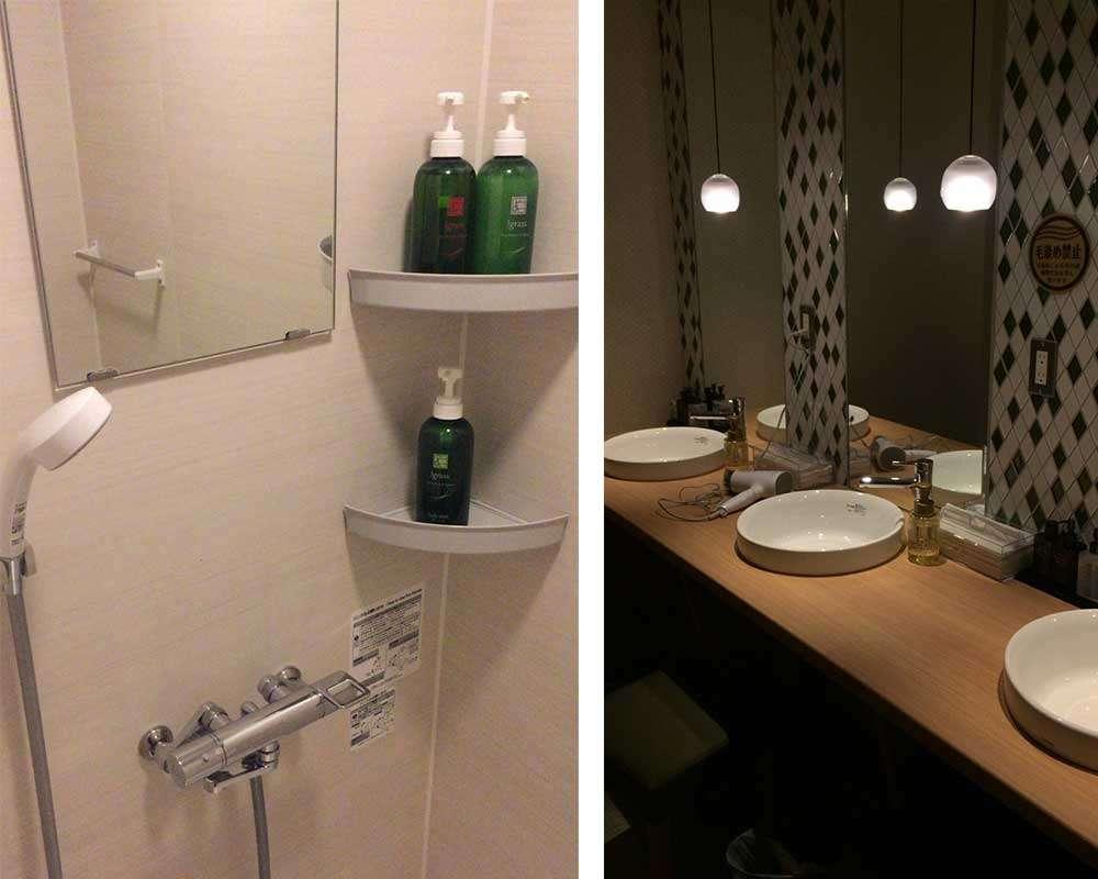 淋浴間、洗手台