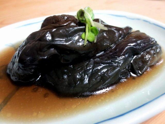 高湯煮茄子(整個茄子) 350日圓