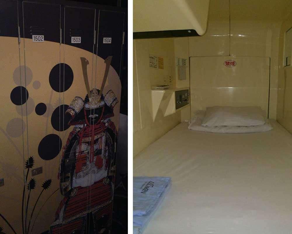Lockers, Inside of a Capsule