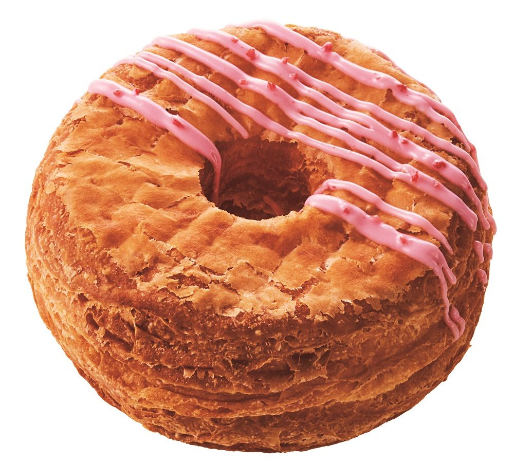 The Strawberry Croissant Donut  (¥162)