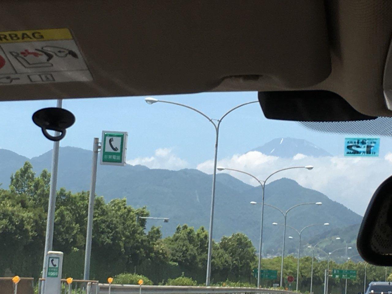 彷彿在近在眼前的富士山