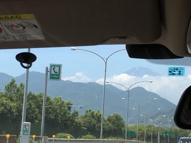 仿佛在近在眼前的富士山