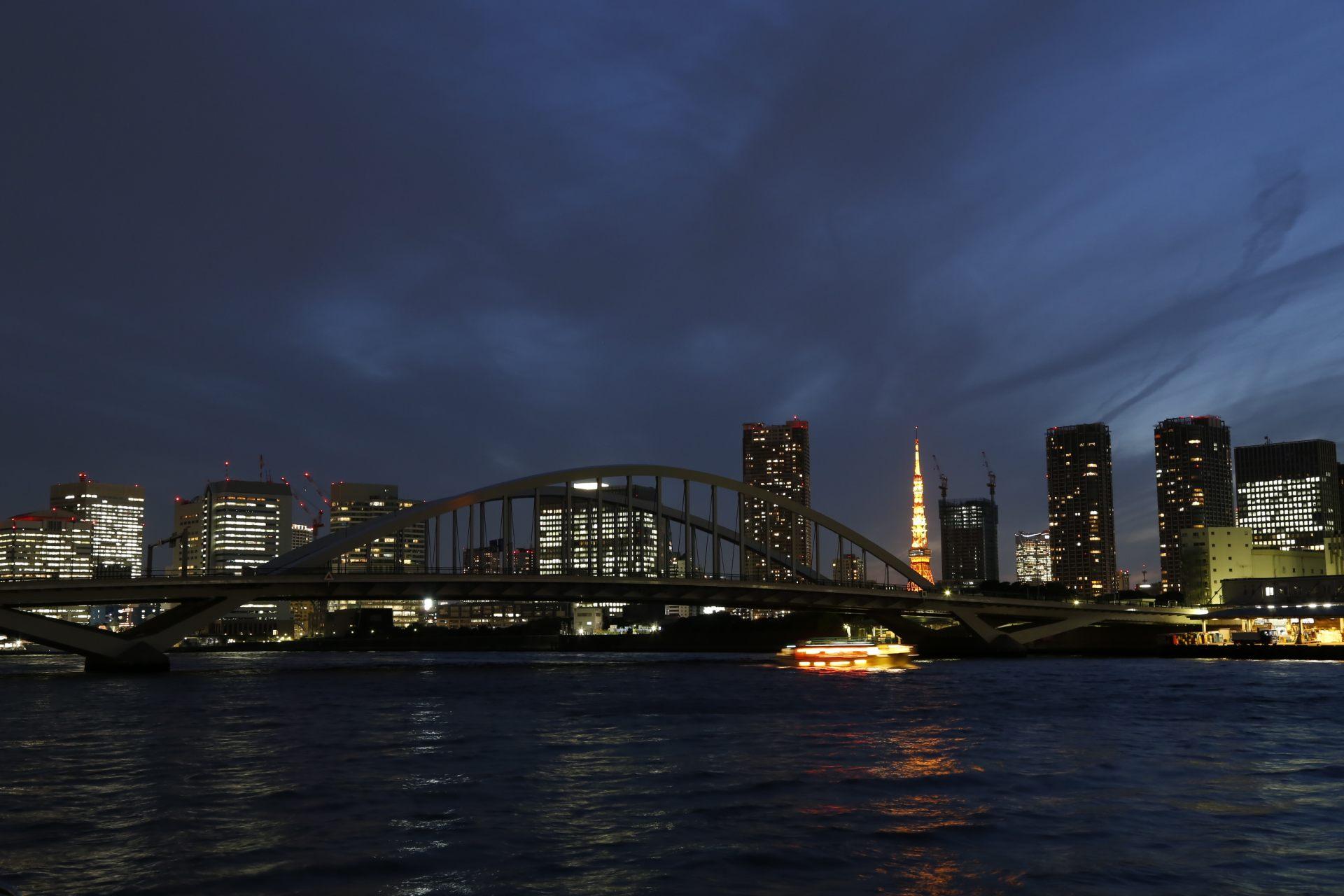 Night View of Kachidoki Bridge