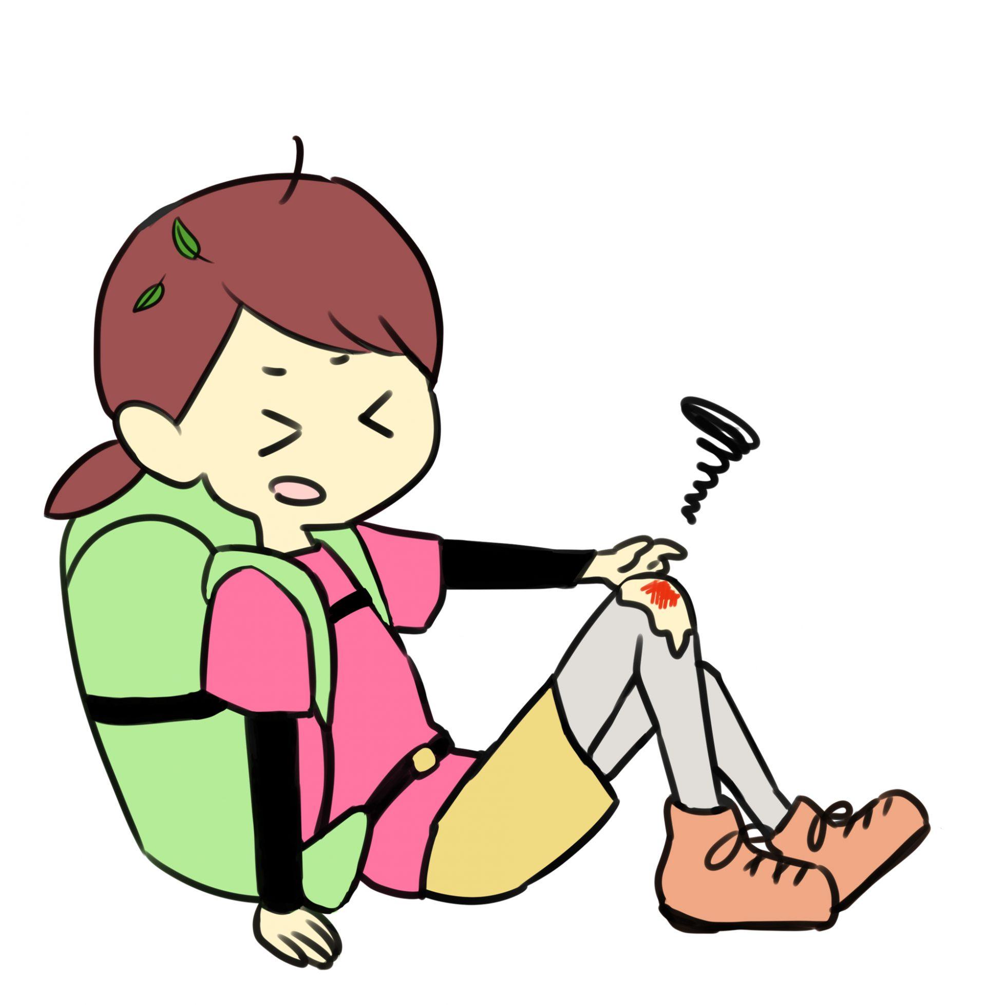 跌倒等状况下容易造成轻度的刮伤、擦伤