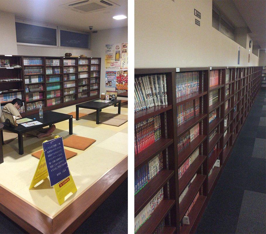 座席區、書櫃