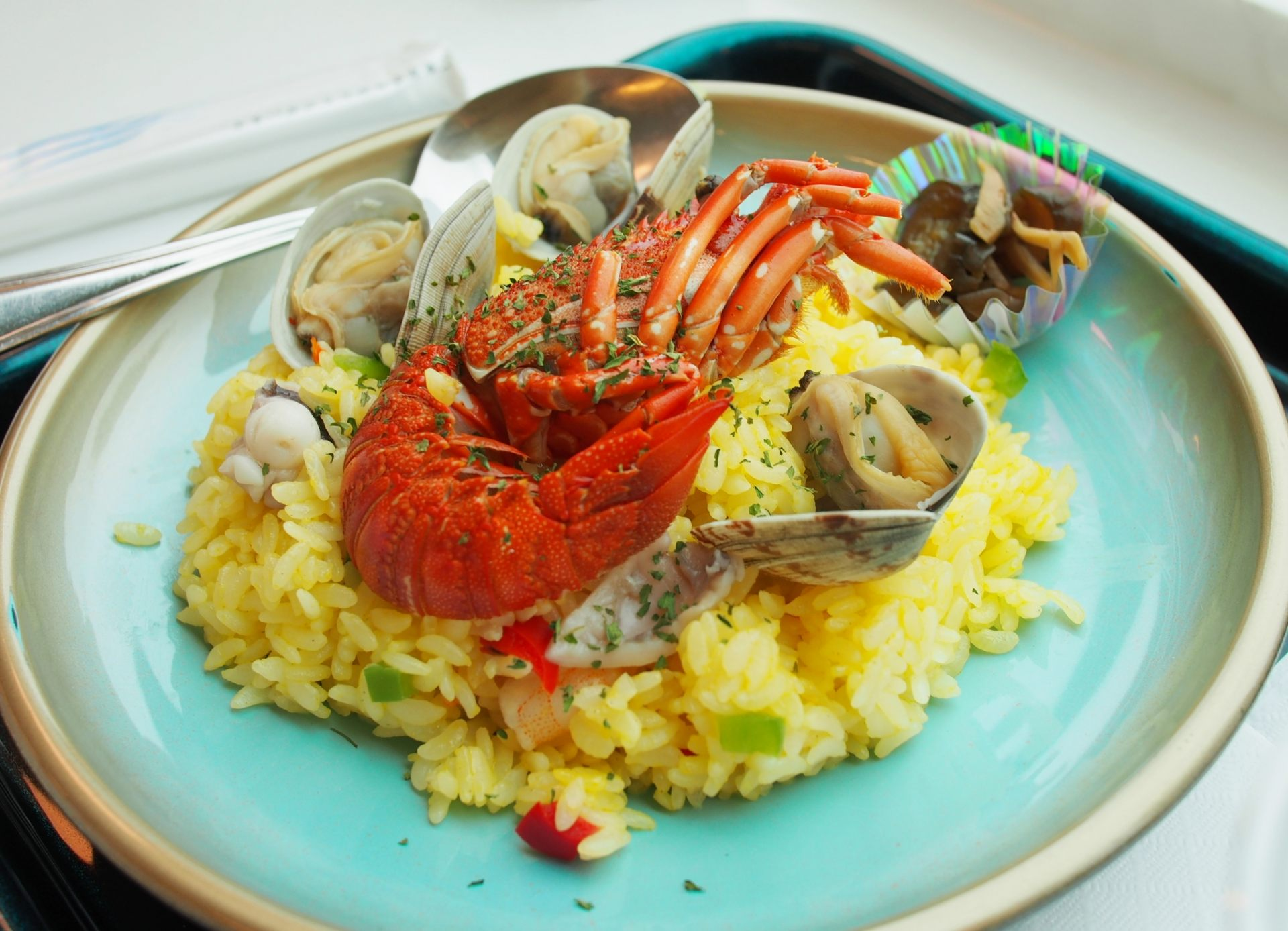 """The """"Seafood Pilaf"""" I ordered (1,340 yen)"""