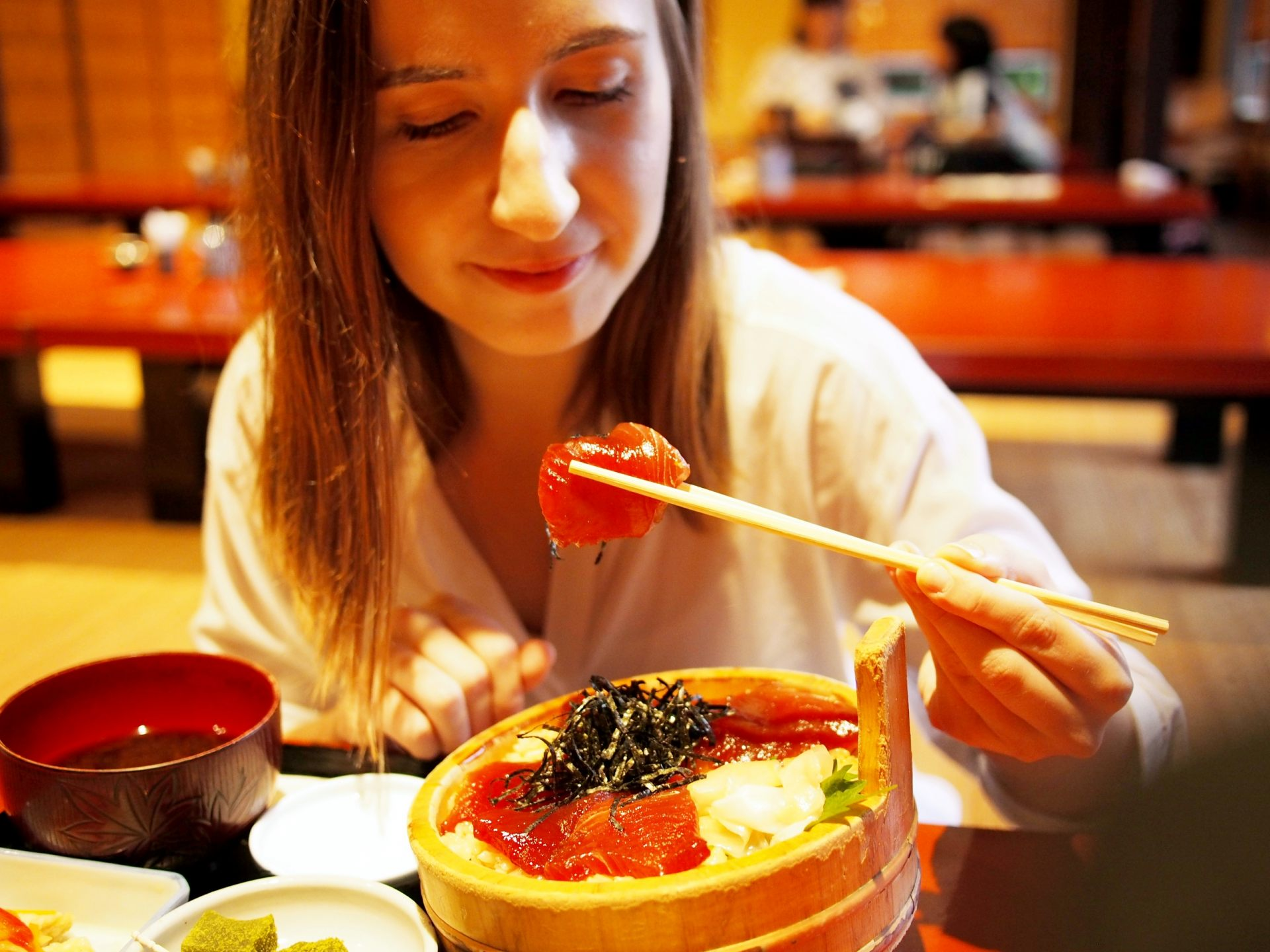 """Nigiri sushi is great, but """"tekone sushi"""" is delicious too!"""