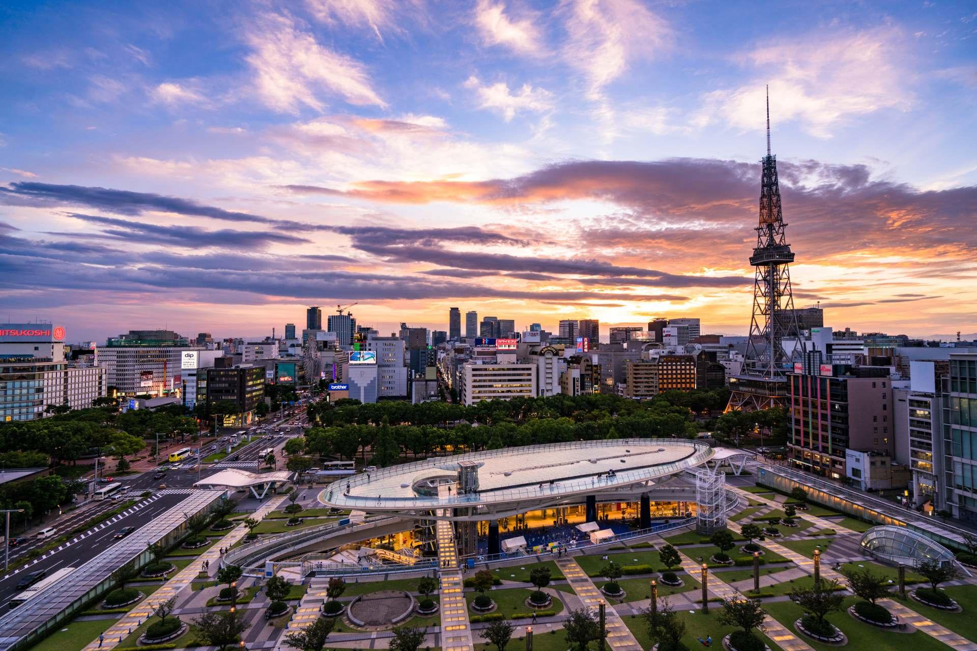 电视塔与宇宙船交相辉映的名古屋美景