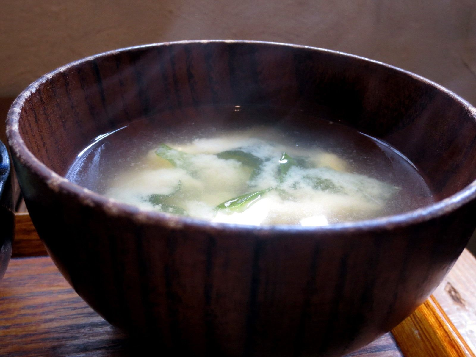 Miso soup with organic vegetables