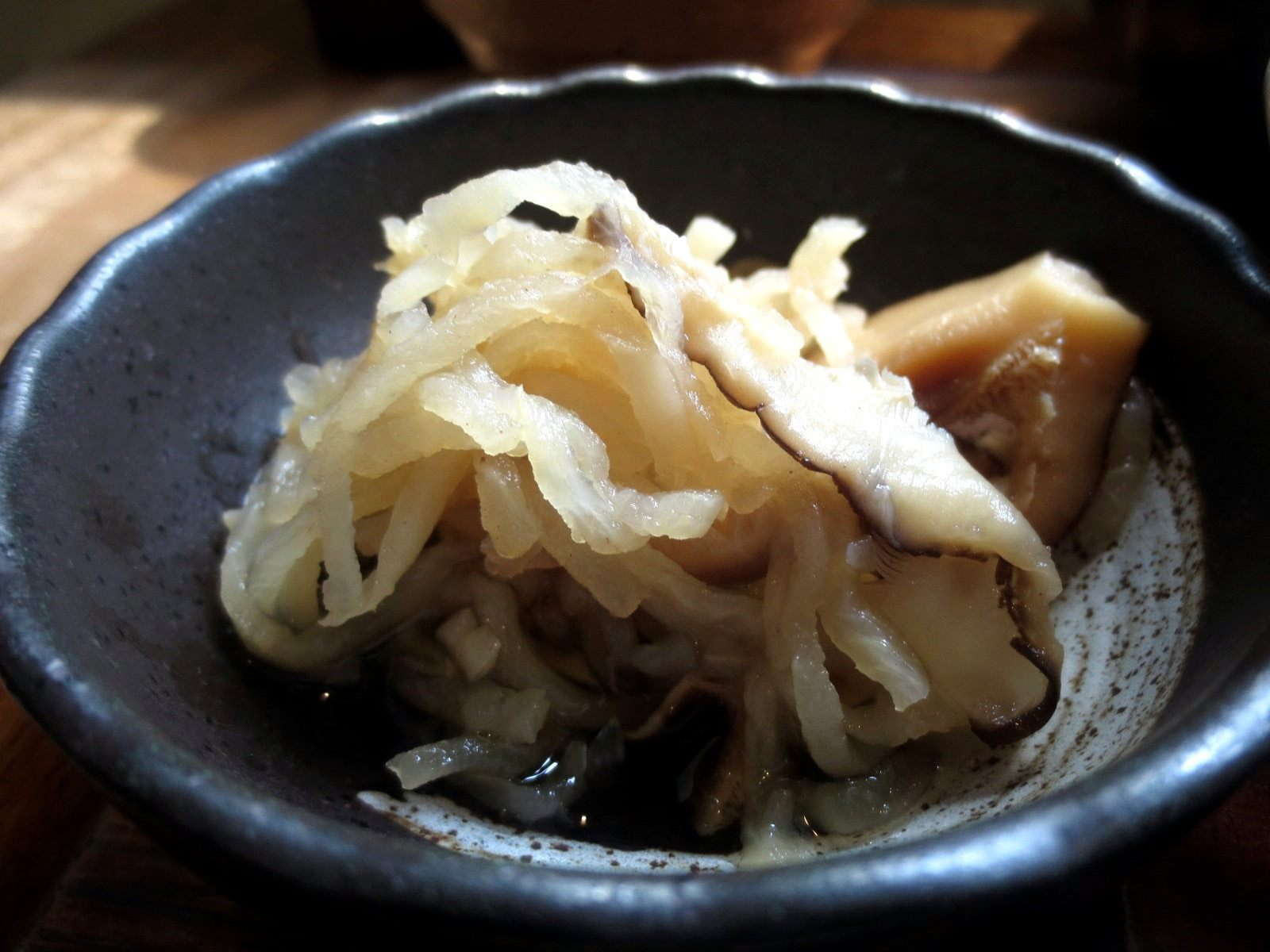 Simmered dried daikon strips