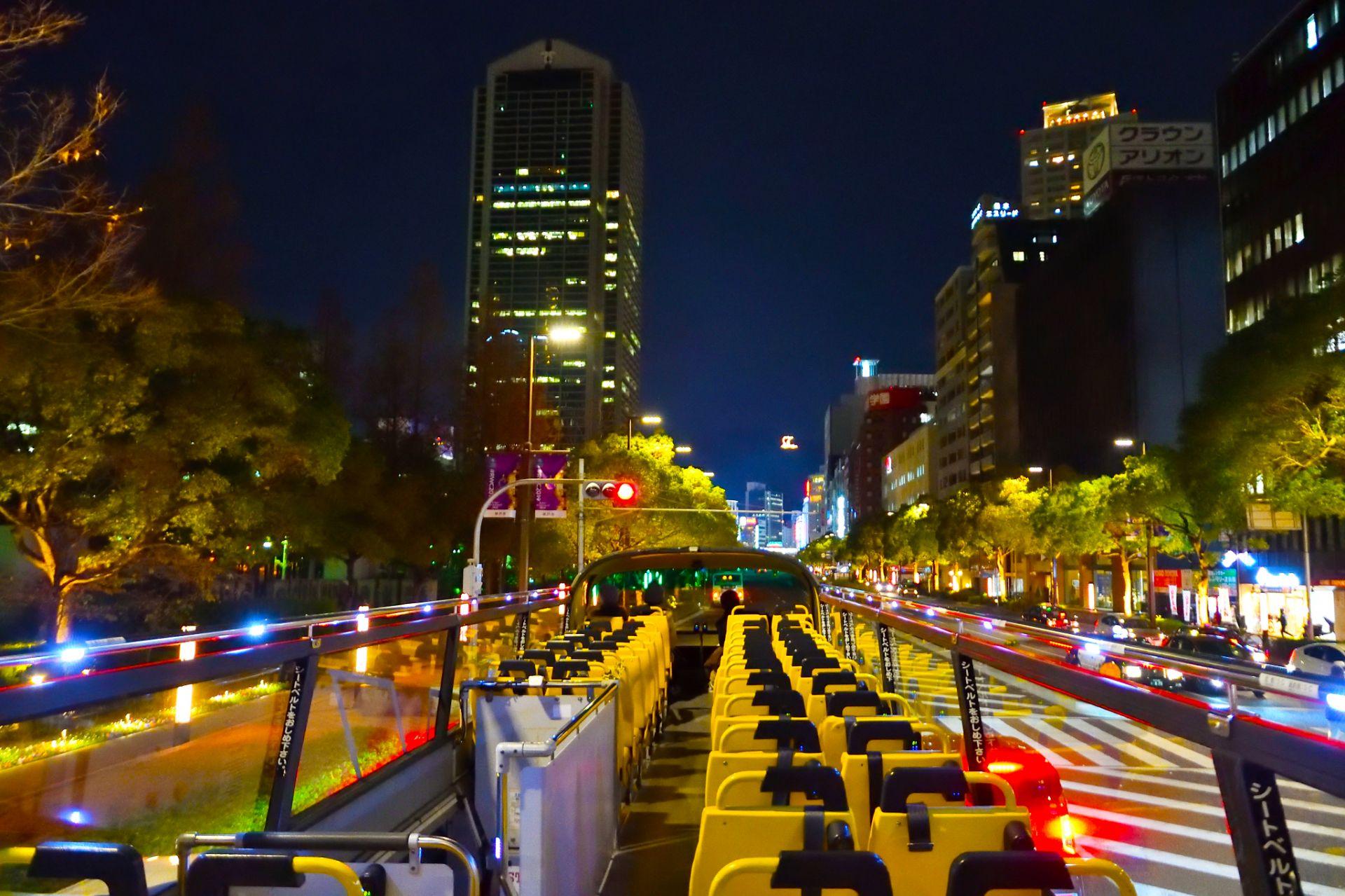 從露天巴士望去的神戶夜景非常浪漫