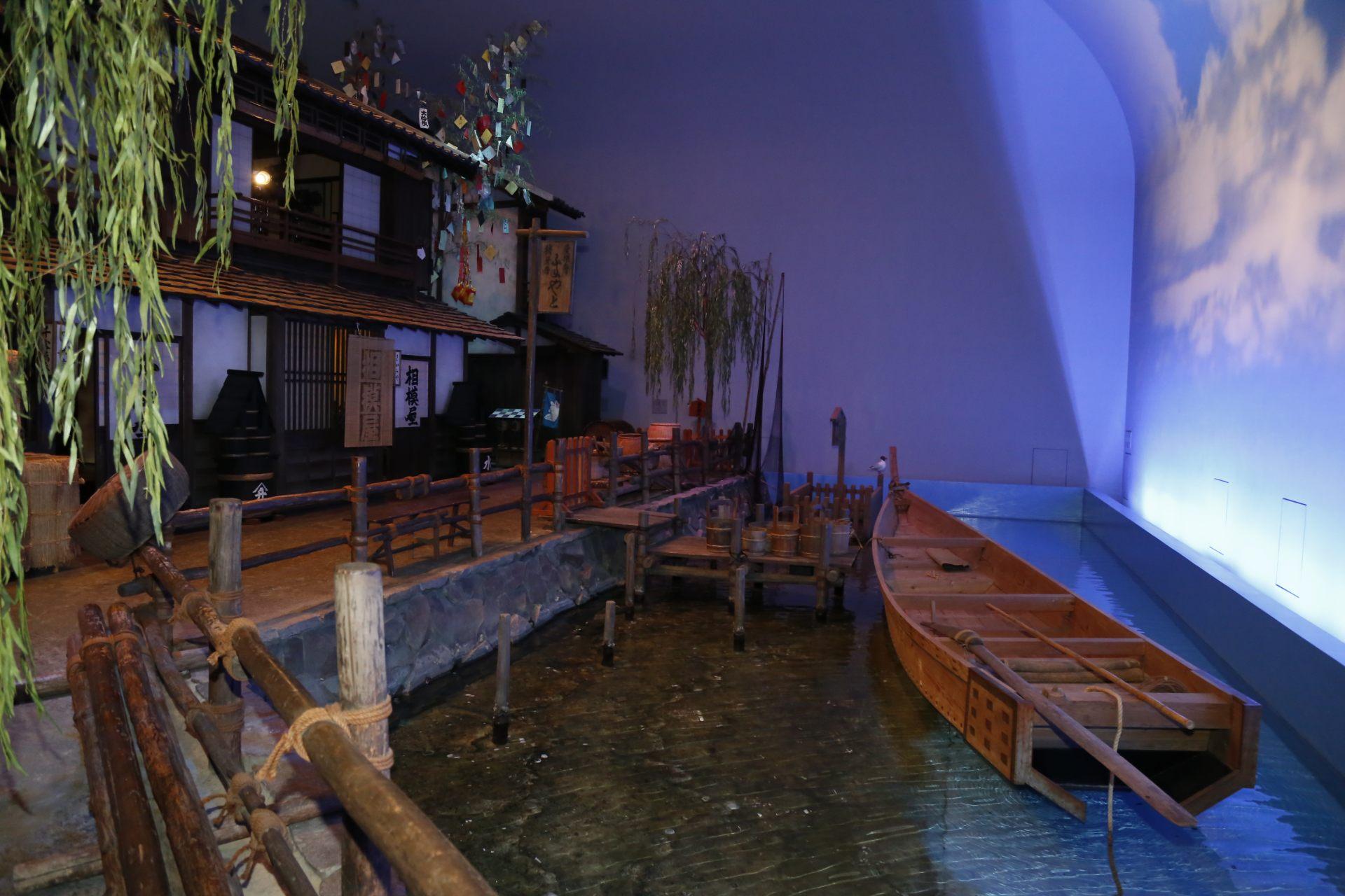 资料馆的内观,重现江户街道的风景