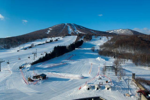在整备完好的滑道挑战滑雪!