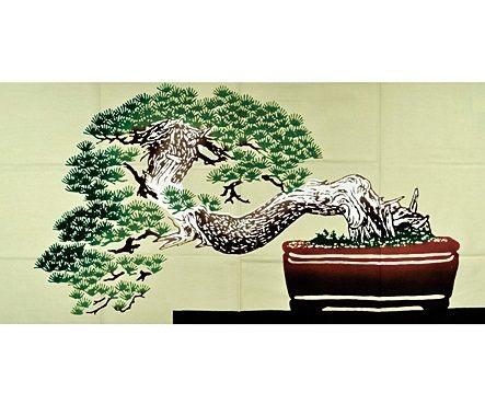 最搶手的伴手禮是繪有盆栽圖案的毛巾