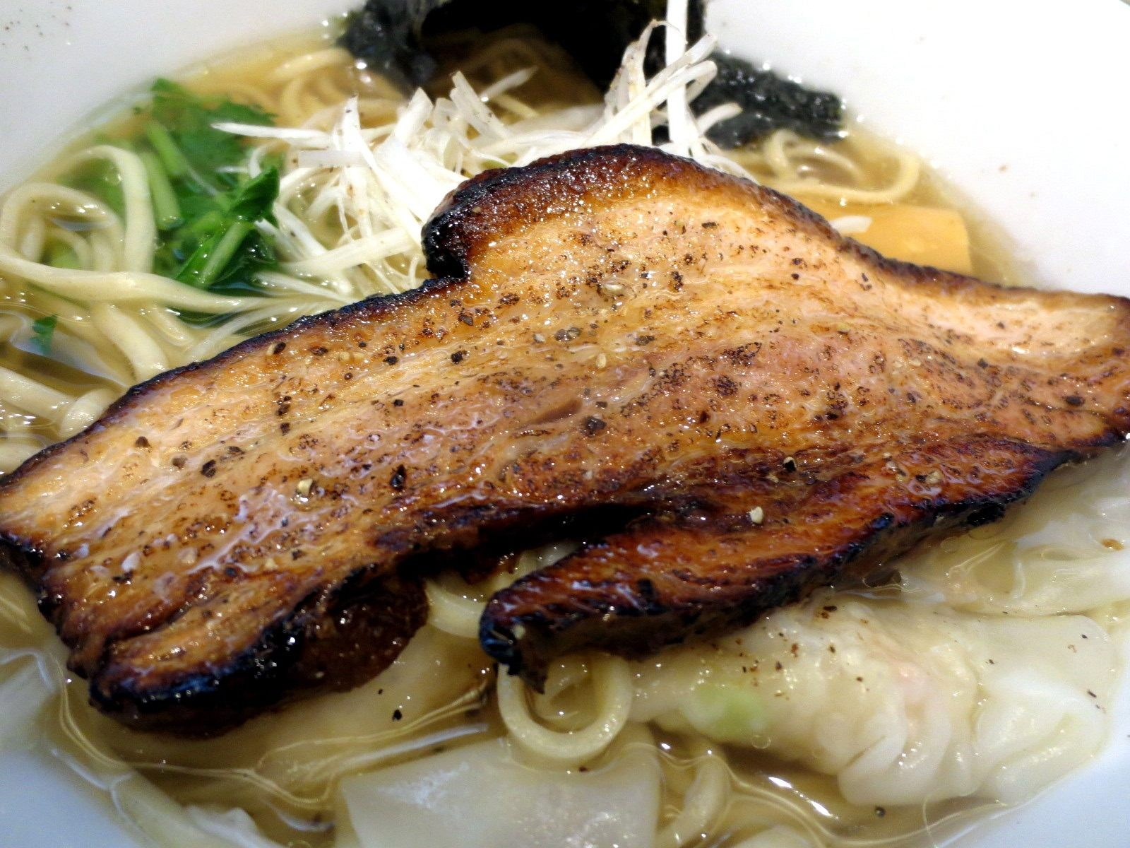 The large, flame-broiled Char sui