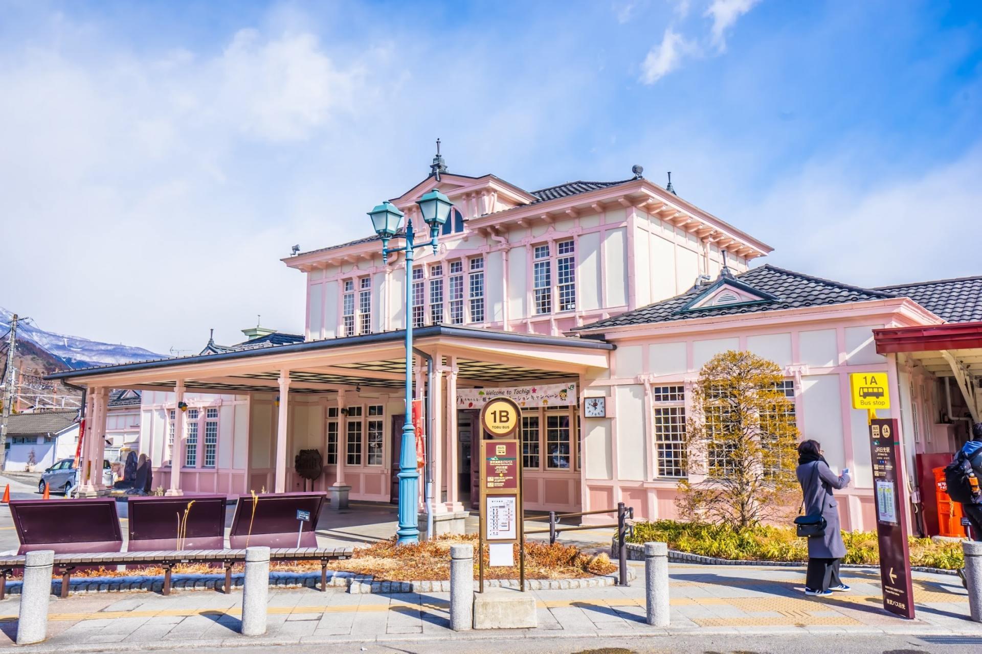 欧式建筑的车站楼房