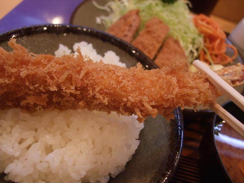 The ebi-fry is also delicious!