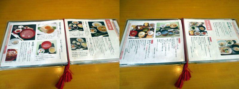 The meal menu