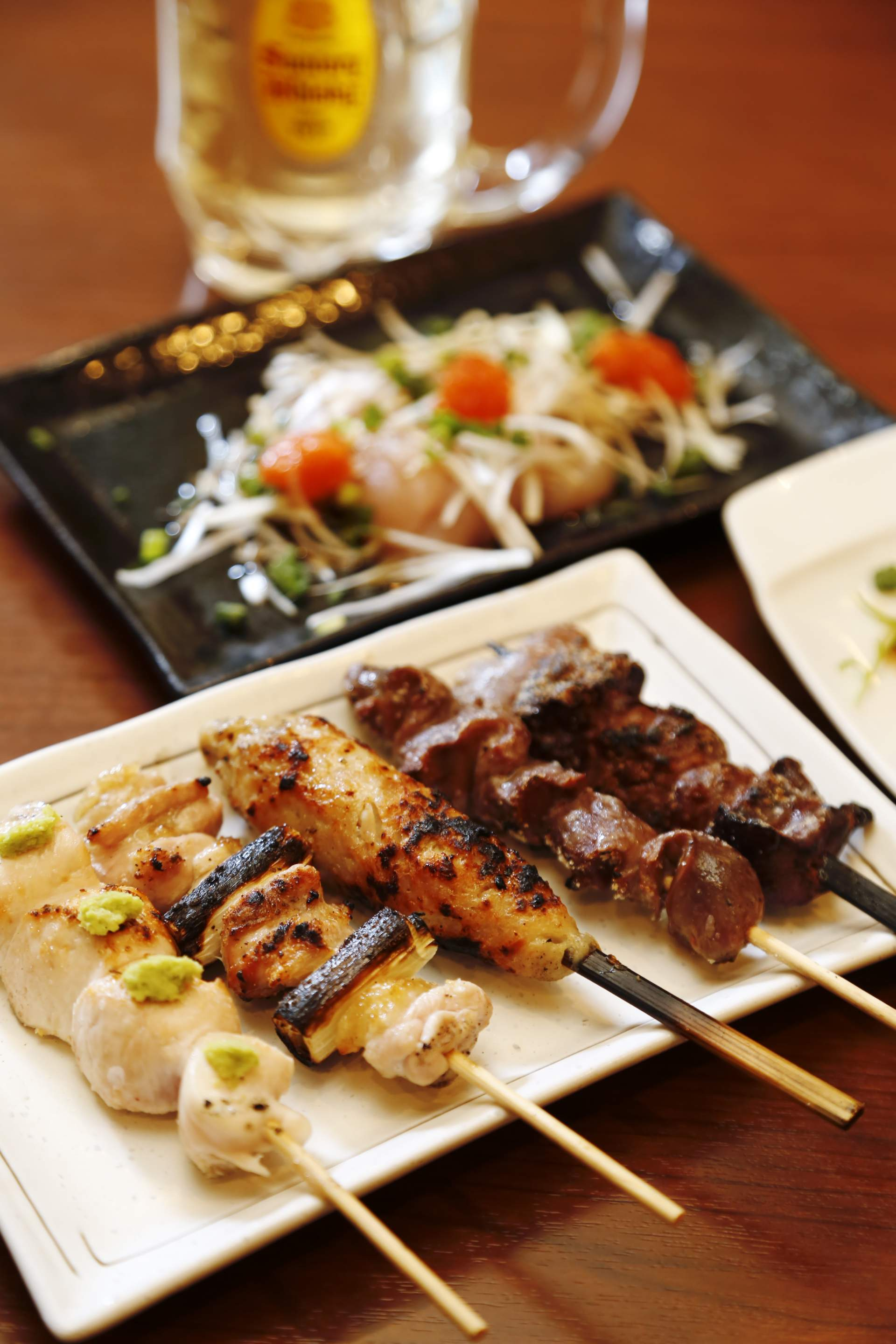 This reasonably-priced yakitori starts at just 130 yen per skewer