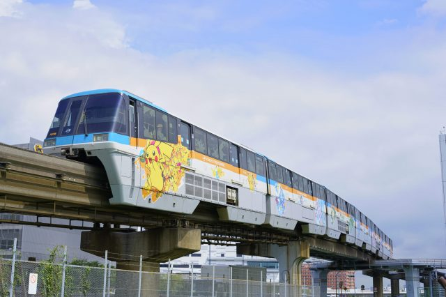"""POKÉMON MONORAIL"" is Now Appearing on the Tokyo Monorail!"