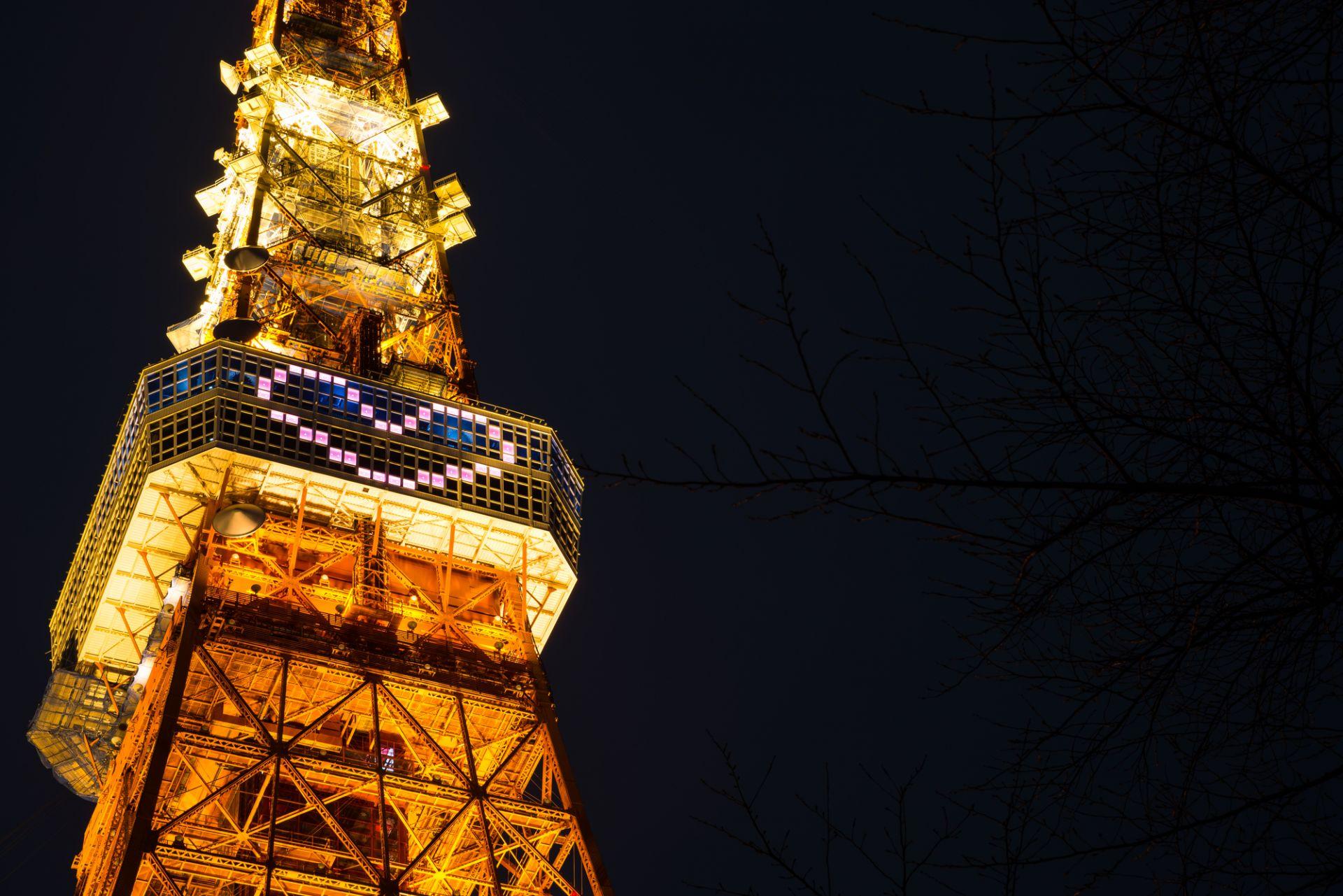 聖誕節期間的冬季版點燈還有心型彩燈♡