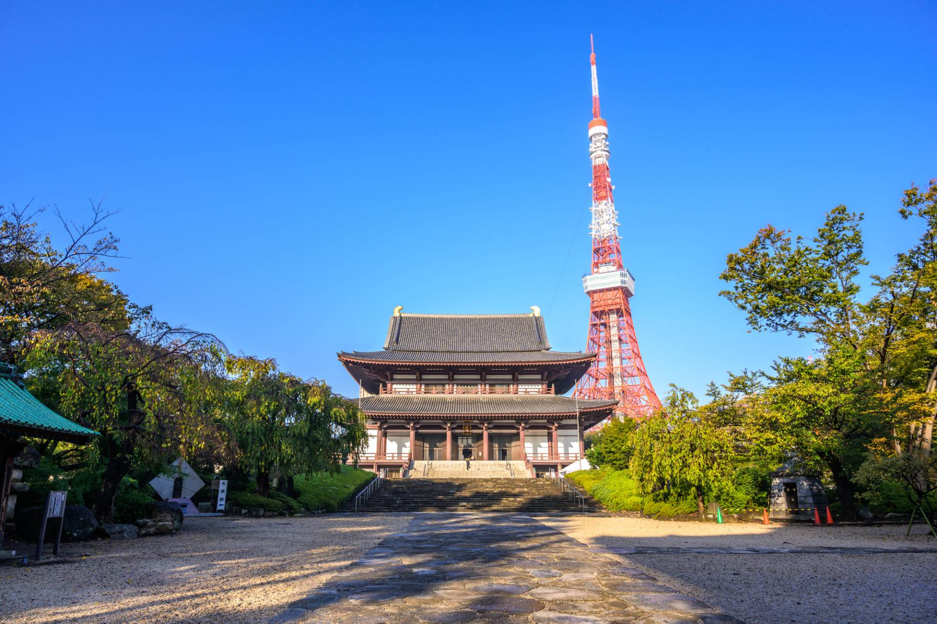 増上寺 × 東京鐵塔 東西建築的對比美令人驚艷