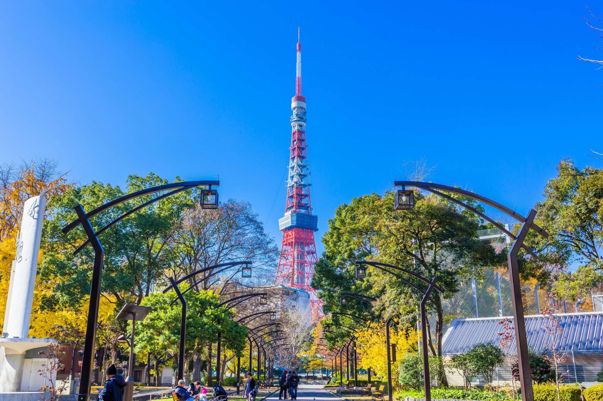 從芝公園4號地拍到的東京鐵塔