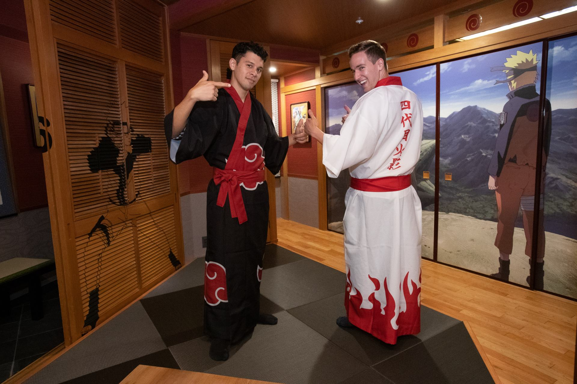 Wear one of the signature yukata robes and maybe you'll meet the NARUTO characters while you sleep!