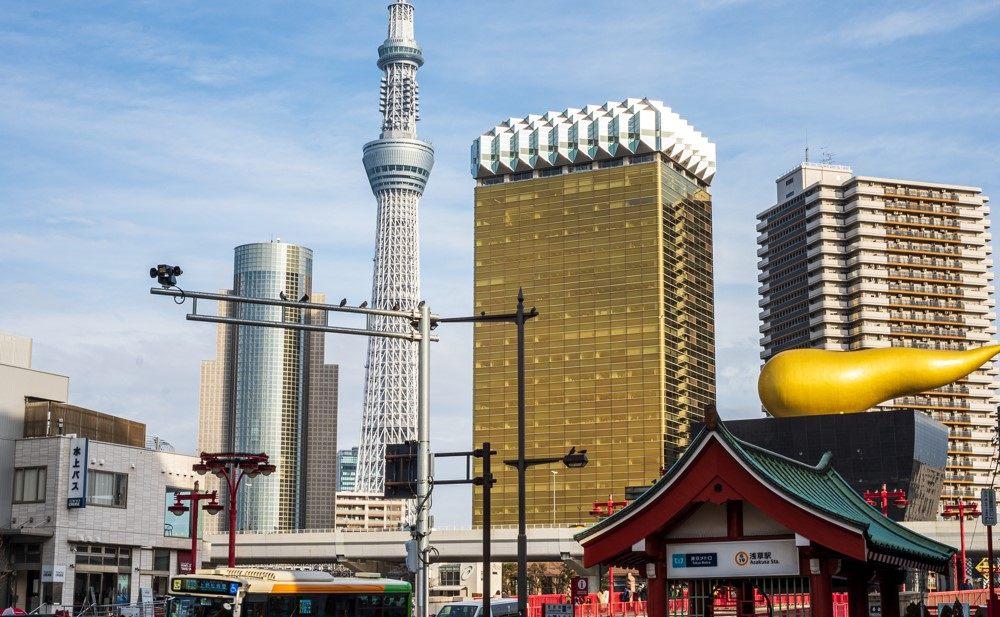 東京Metro「淺草車站」與「晴空塔」
