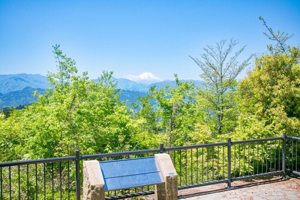 天氣好的話,還能從高尾山山頂看到富士山。
