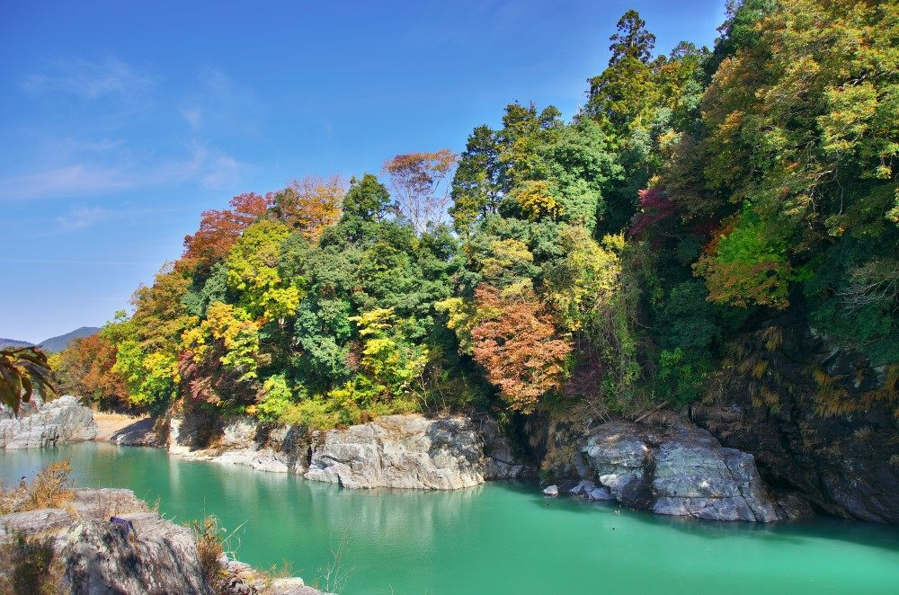 可以欣賞到狀大自然的秩父・長瀞溪谷
