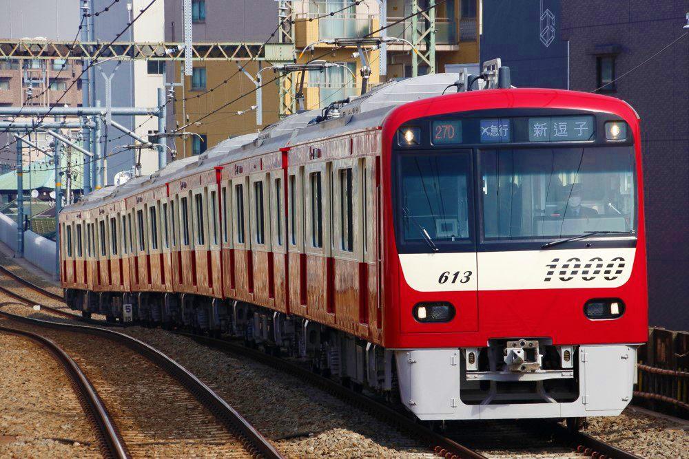 京急線紅色的車廂非常醒目
