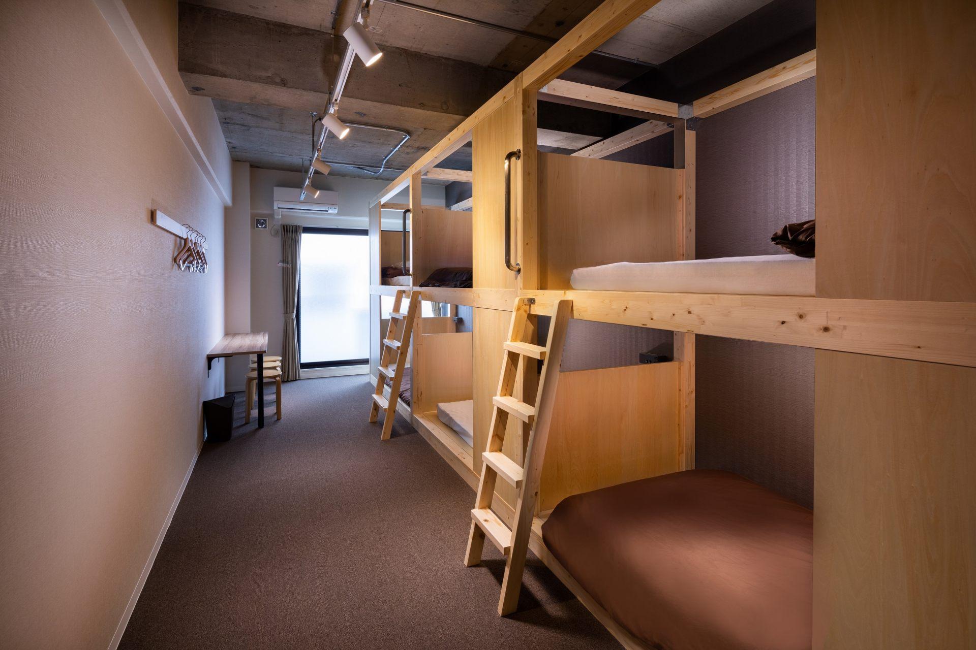 最適合團體或家庭旅遊的6人房。