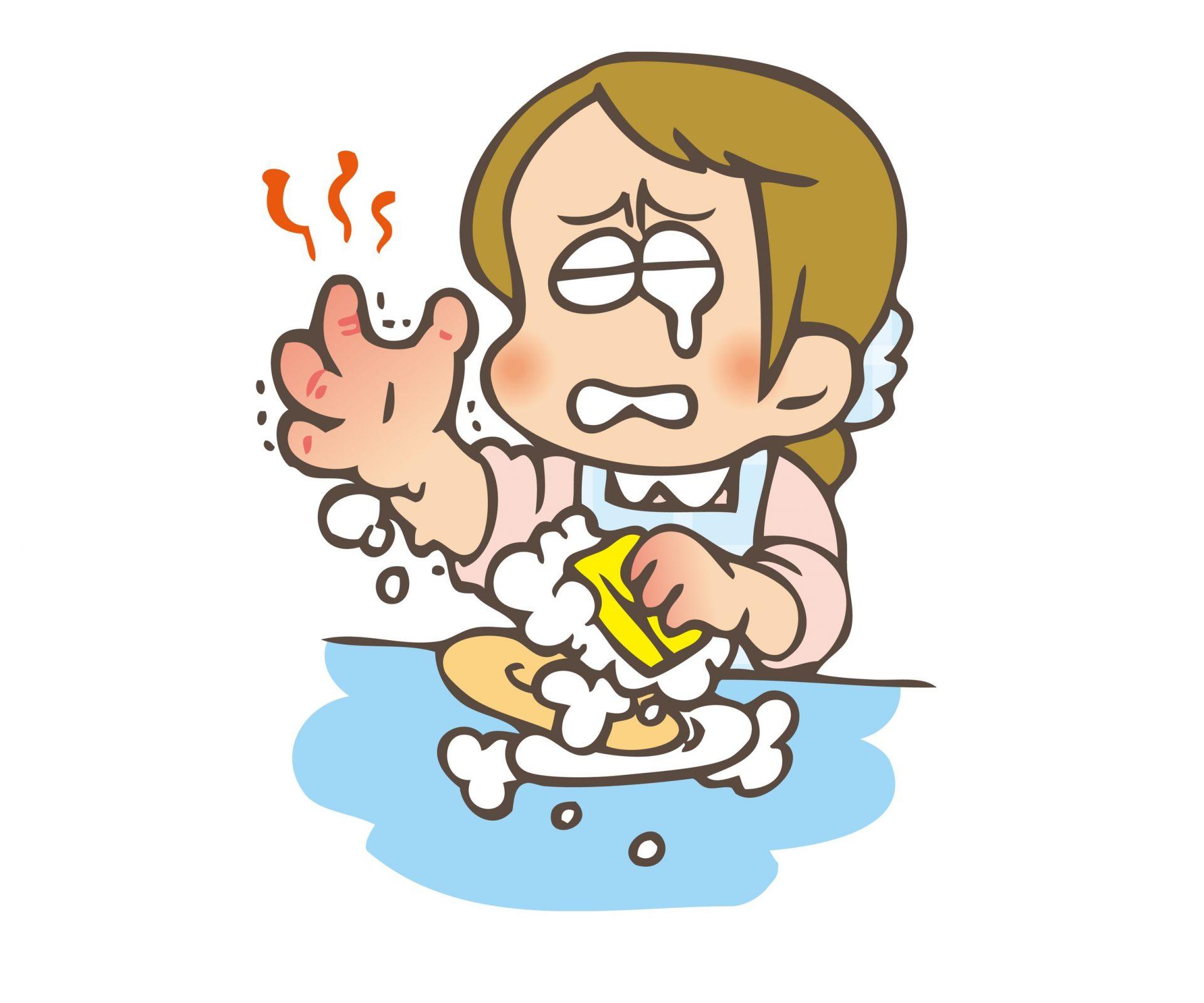 在乾燥的季節裡容易發生皮膚的皸裂