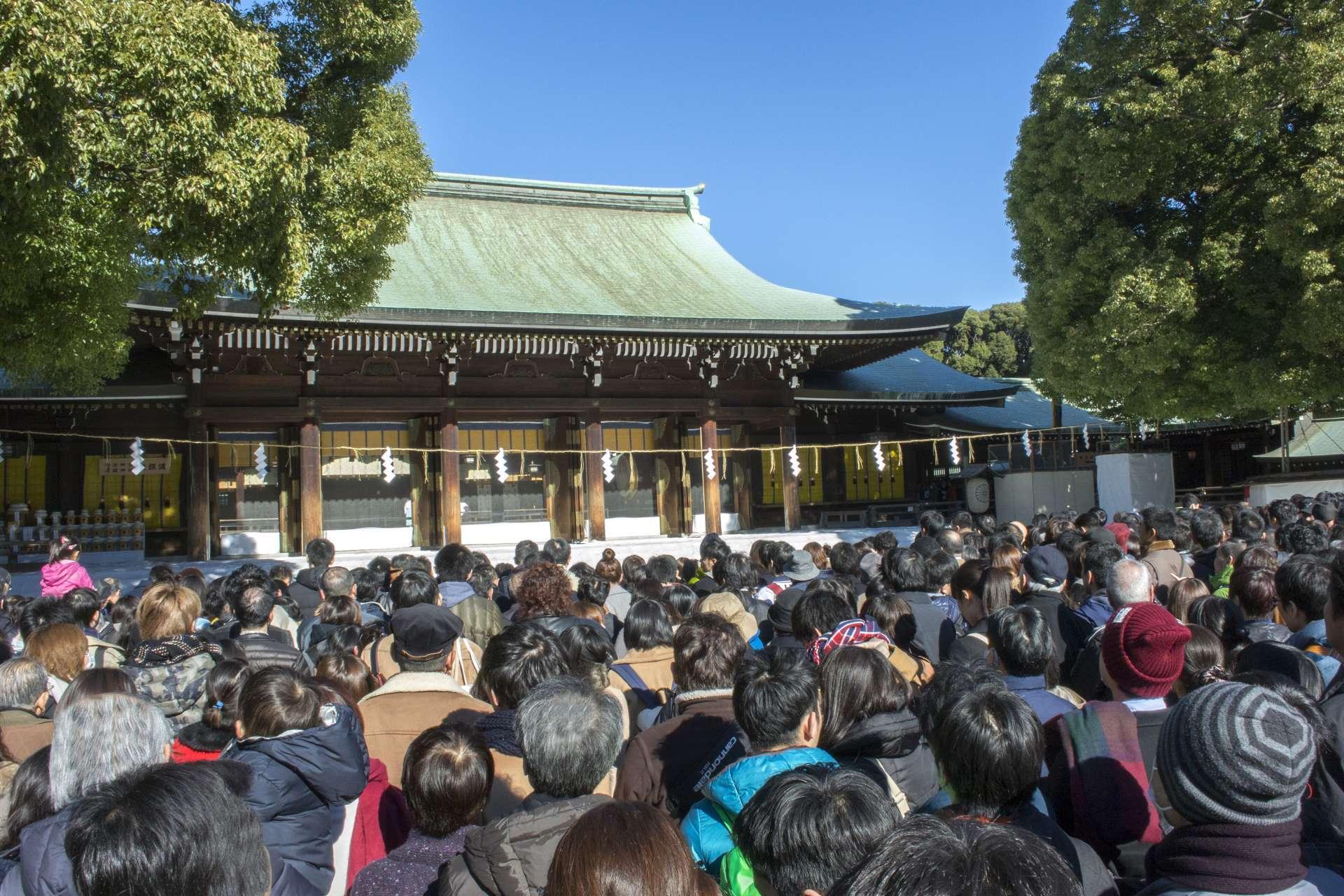 每年新年的參拜人數日本第一的明治神宮