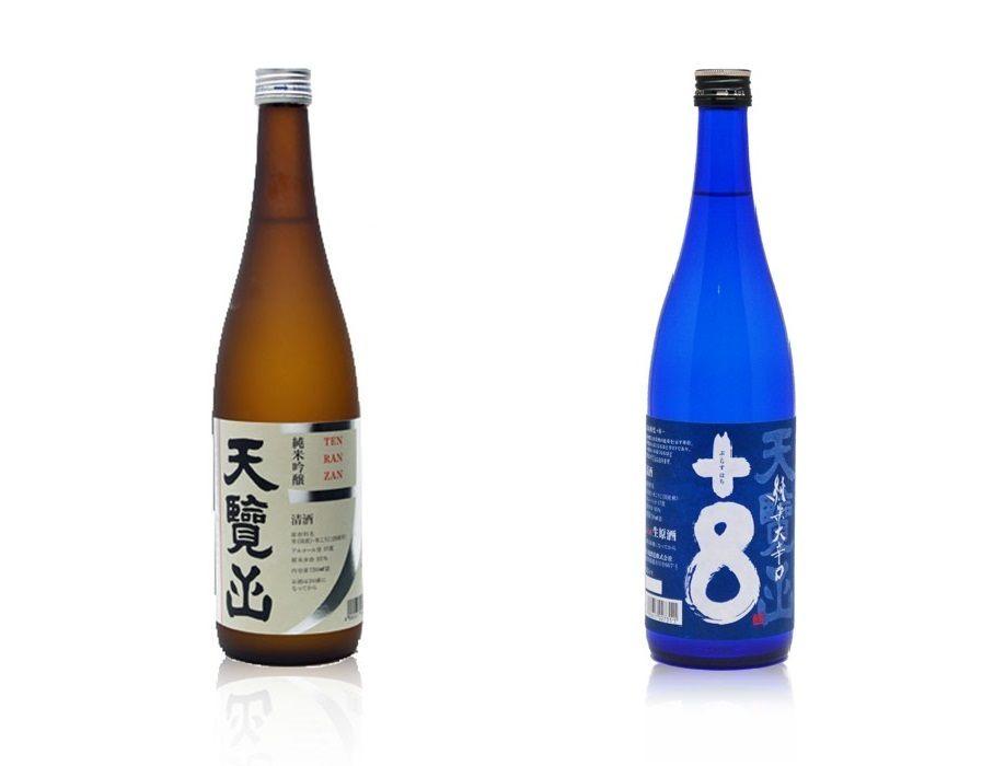 左 : 天览山 纯米吟醸 <720ml> (1,485日元) 右 : 天览山 纯米大辛口 生原酒 <720ml> (1,430日元)