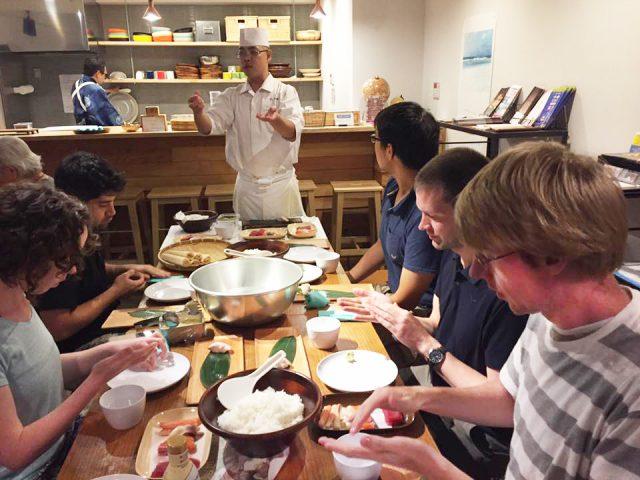 以前舉辦的握壽司體驗活動!深受海外旅客的好評!