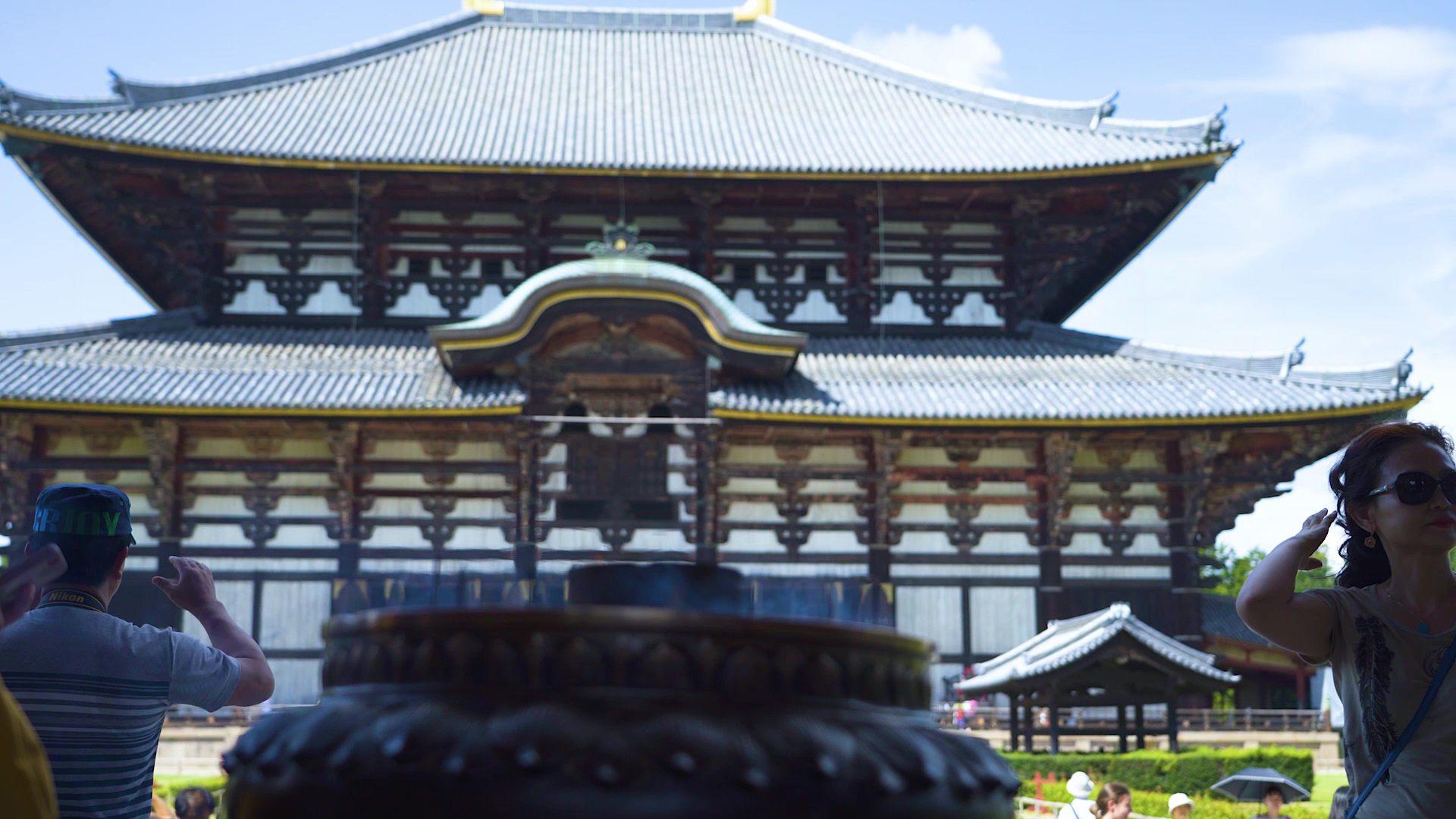 充滿震撼力的東大寺大佛殿