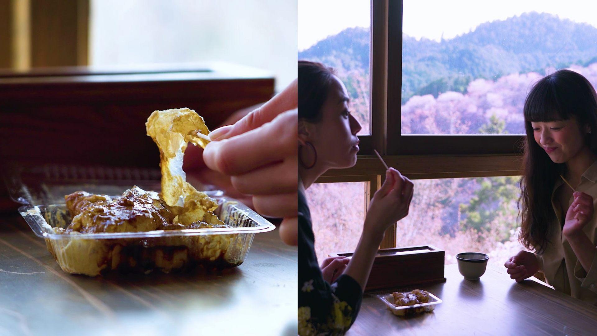 使用「吉野葛」所做的和果子「葛饼」