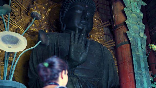 The famous Great Buddha of Nara