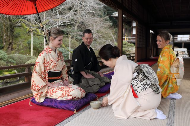 Experience traditional Japanese culture at a historic Buddhist temple that is connected to the Imperial family
