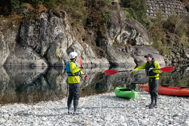 Go kayaking in Kozagawa river looking at beautiful scenery created by nature