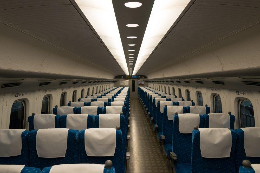 東海道新幹線一般車輛的座位