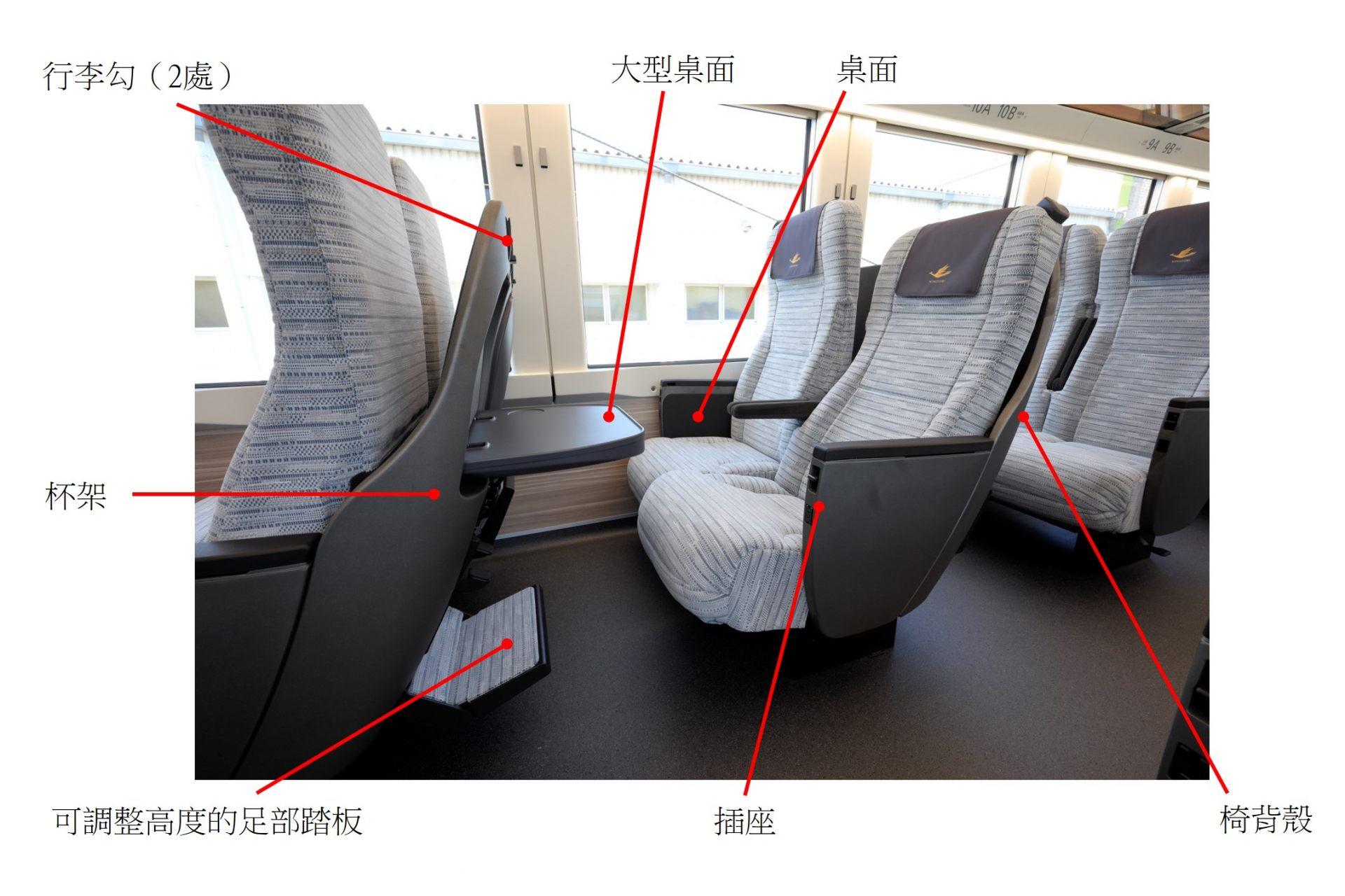 「HINOTORI」標準車廂的座位