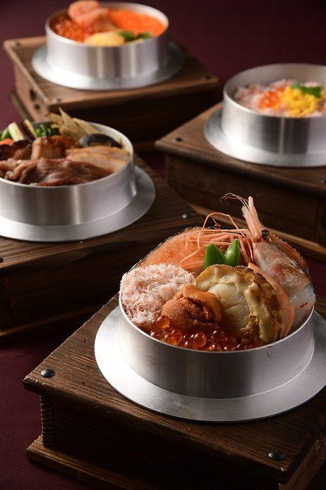 各式各樣改良的釜鍋飯是珍品!