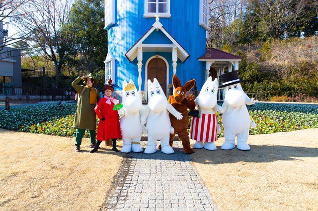 嚕嚕米和夥伴們每天都會舉行現場娛樂表演!